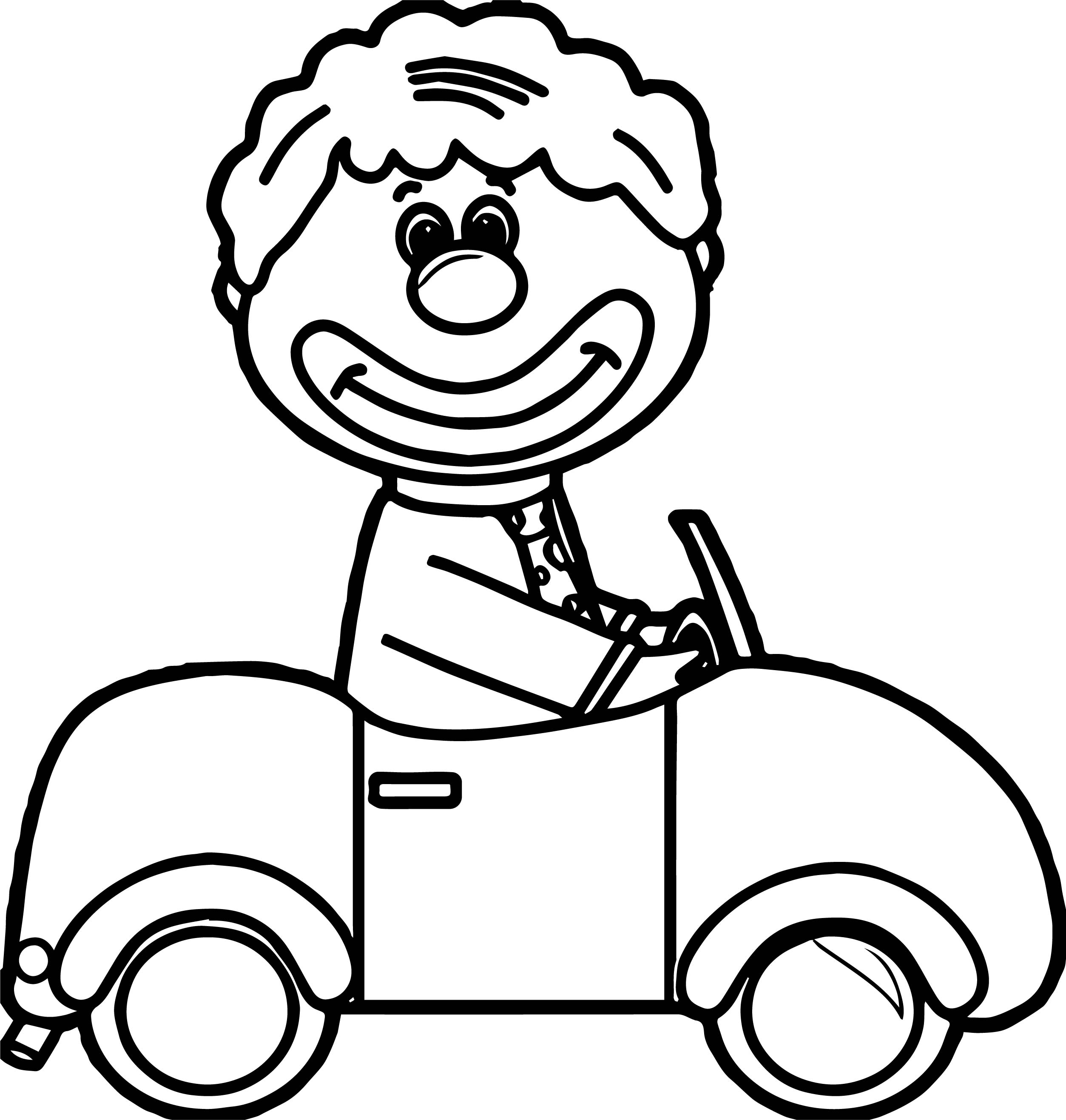 circus clown car coloring page wecoloringpage