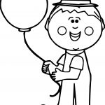 Circus Kid Clown Coloring Page