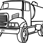 Cistern Truck Cartoon Coloring Page
