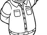 Cloudy With A Chance Of Meatballs Man Coloring Page