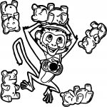 Cloudy with a Chance of Meatballs Monkey Jelly Bean Bear Coloring Page