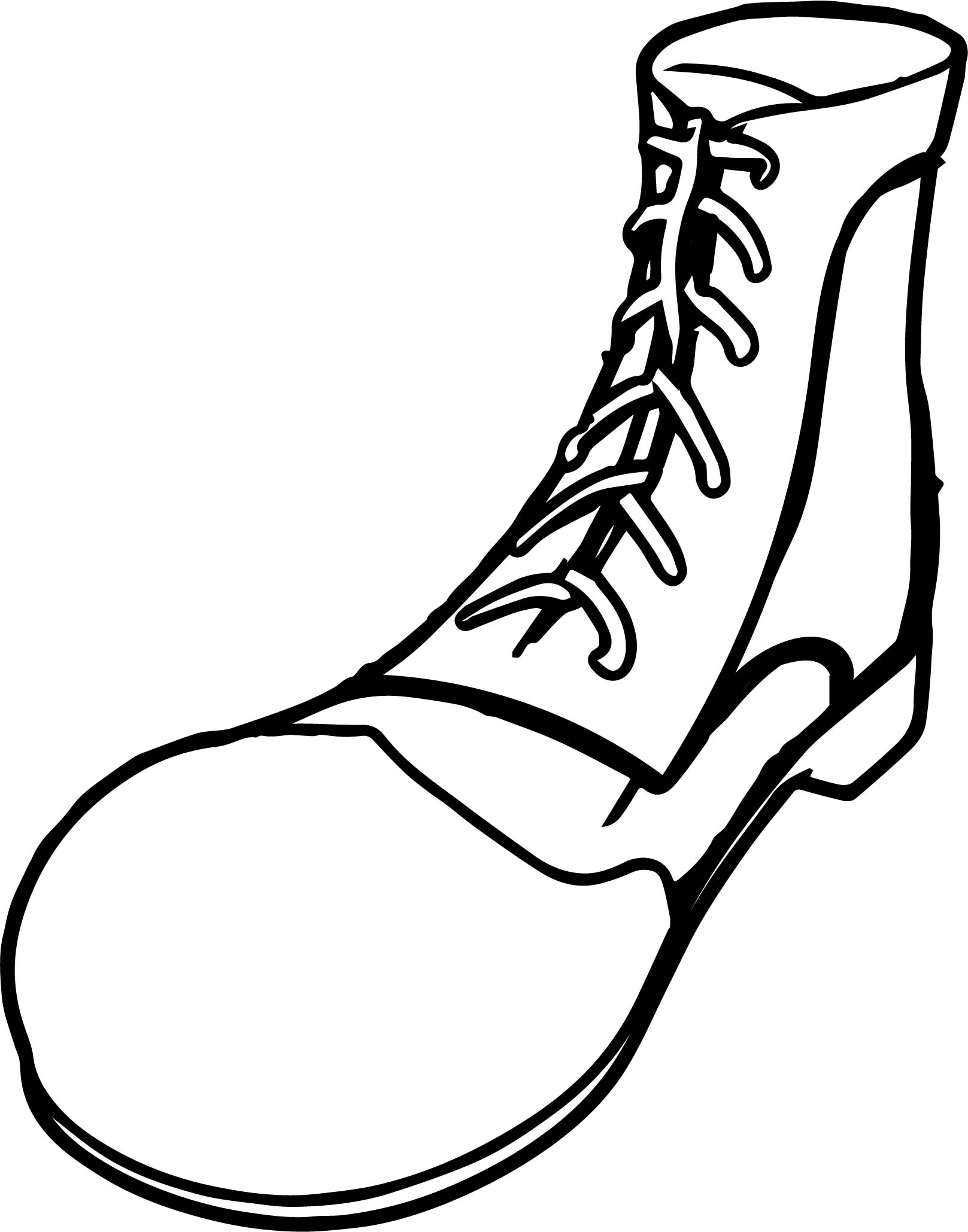 Clown Shoes Coloring Page