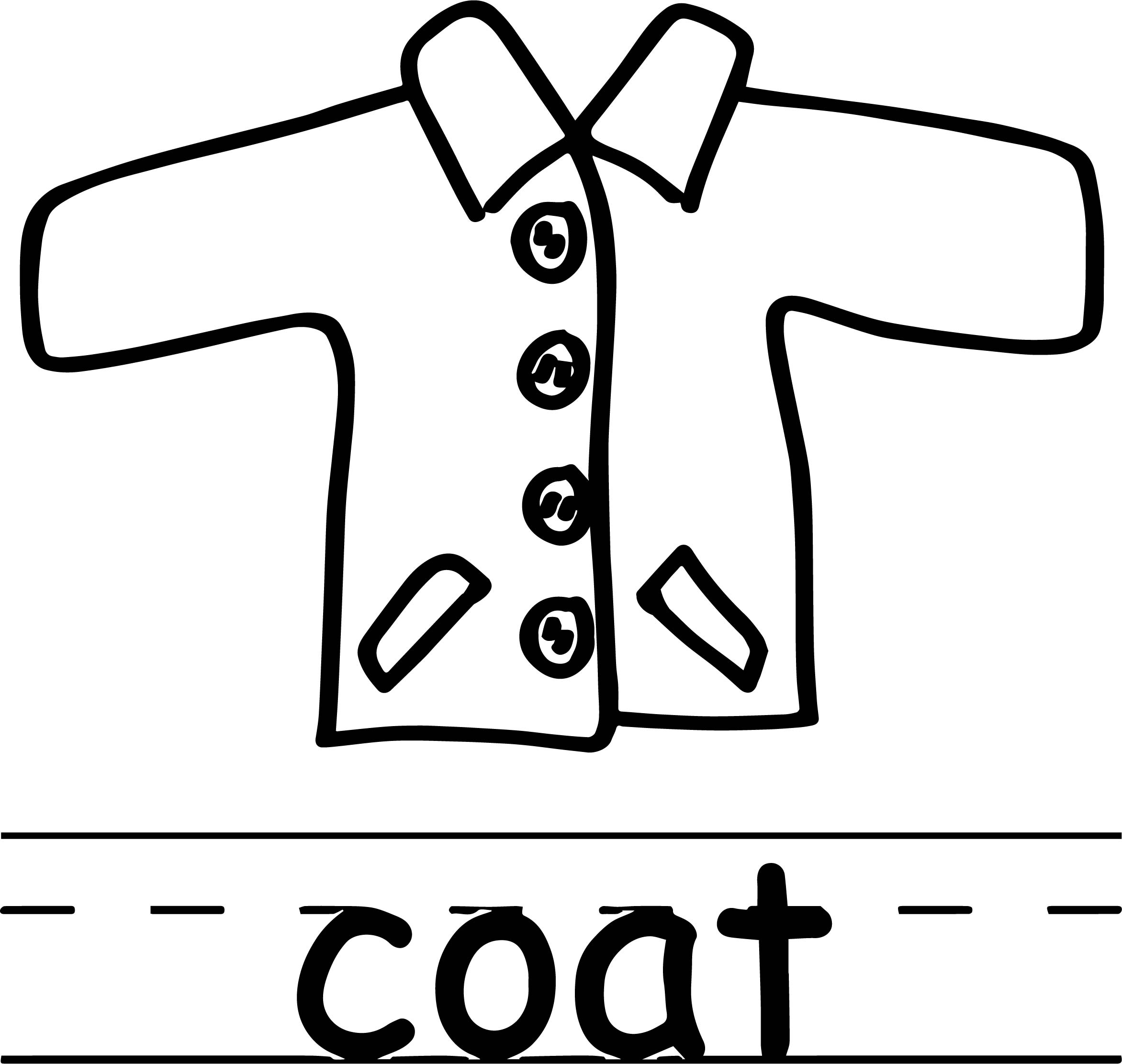 Coat Abc Teach Coloring Page