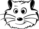 Comic Hamster Face Coloring Page