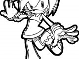 Coming Amy Rose Coloring Page