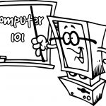 Computer 101 Teach Coloring Page