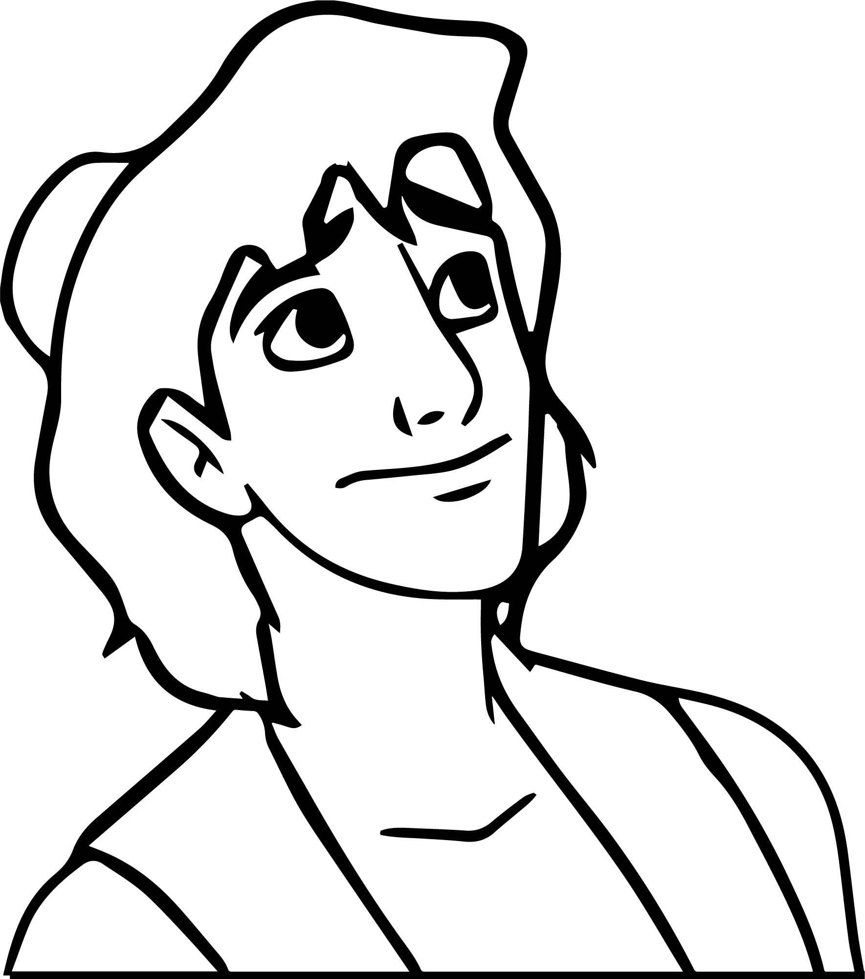 Cool Walt Disney Prince Aladdin Walt Disney Characters Coloring Page
