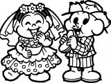 Couple Wedding Popcorn Sandvich Turma Da Monica Coloring Page