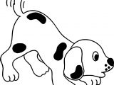 Crying Puppy Playful Cartoon Puppy Dog Coloring Page