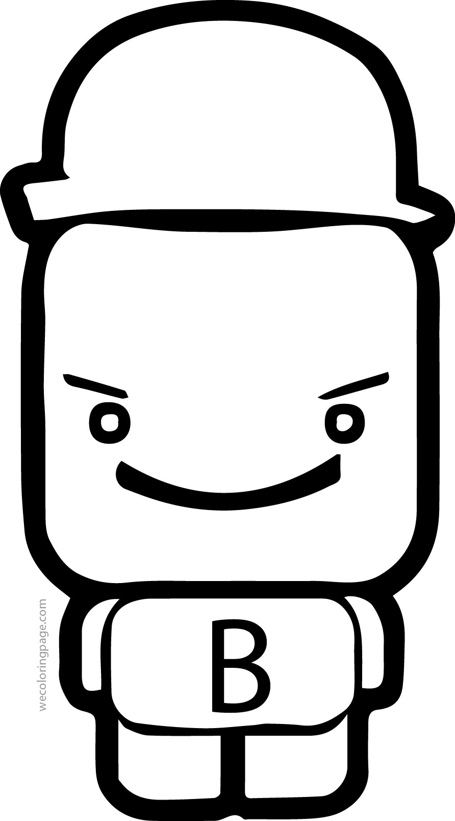 Cube Figure B Letter Coloring Page