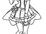 Cure Peace Glitter Force Coloring Page