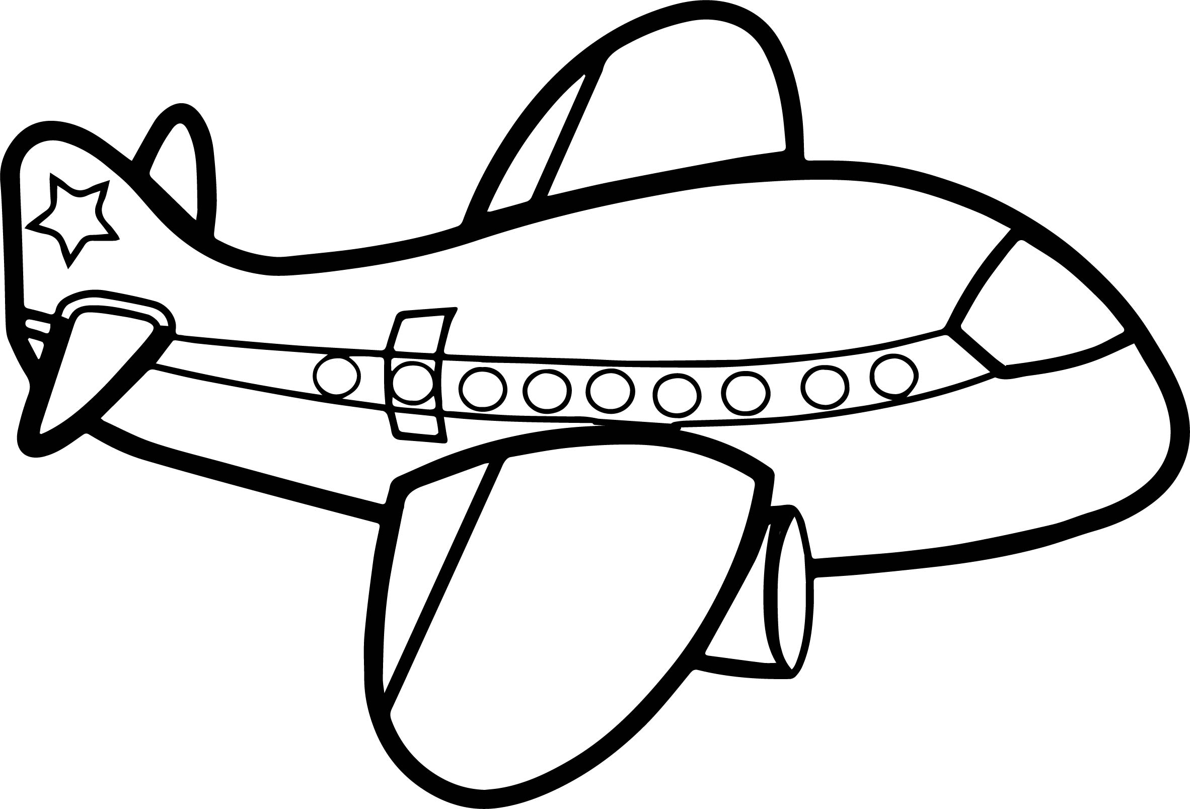 Cute big airplane coloring page for Coloring page jet