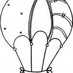 Cute Drawing Air Balloon Coloring Page