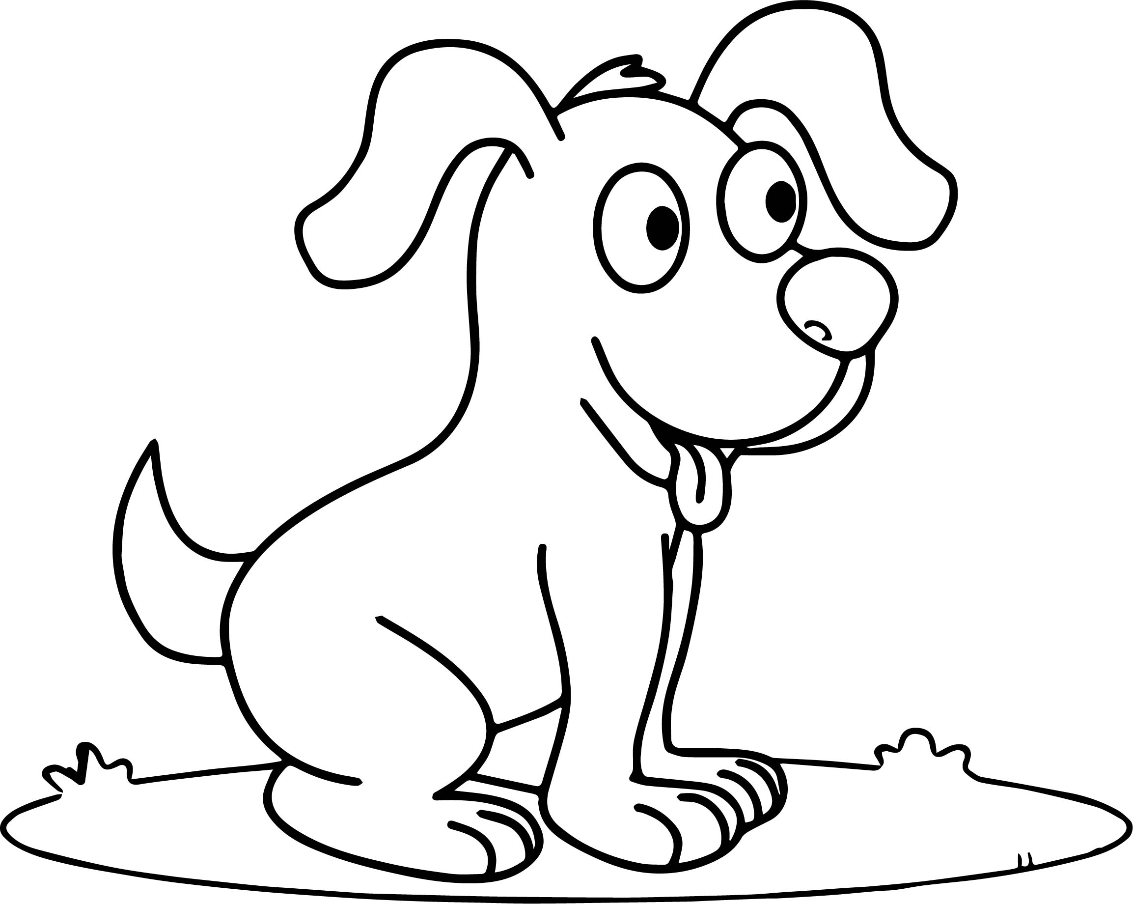 Cute Happy Smiling Puppy Puppy Dog Coloring Page