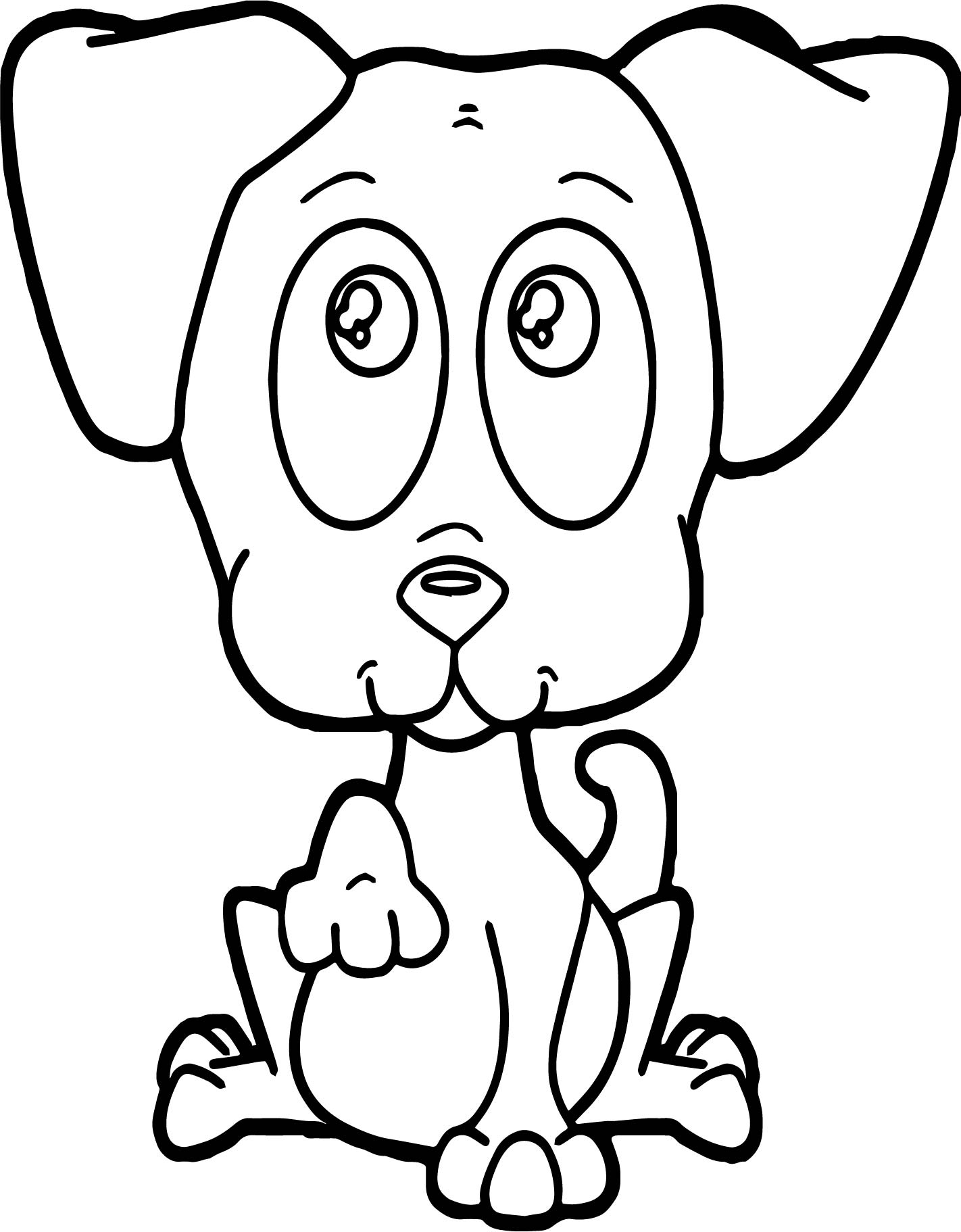 Cute puppy begging puppy dog coloring page for Coloring pages of dogs