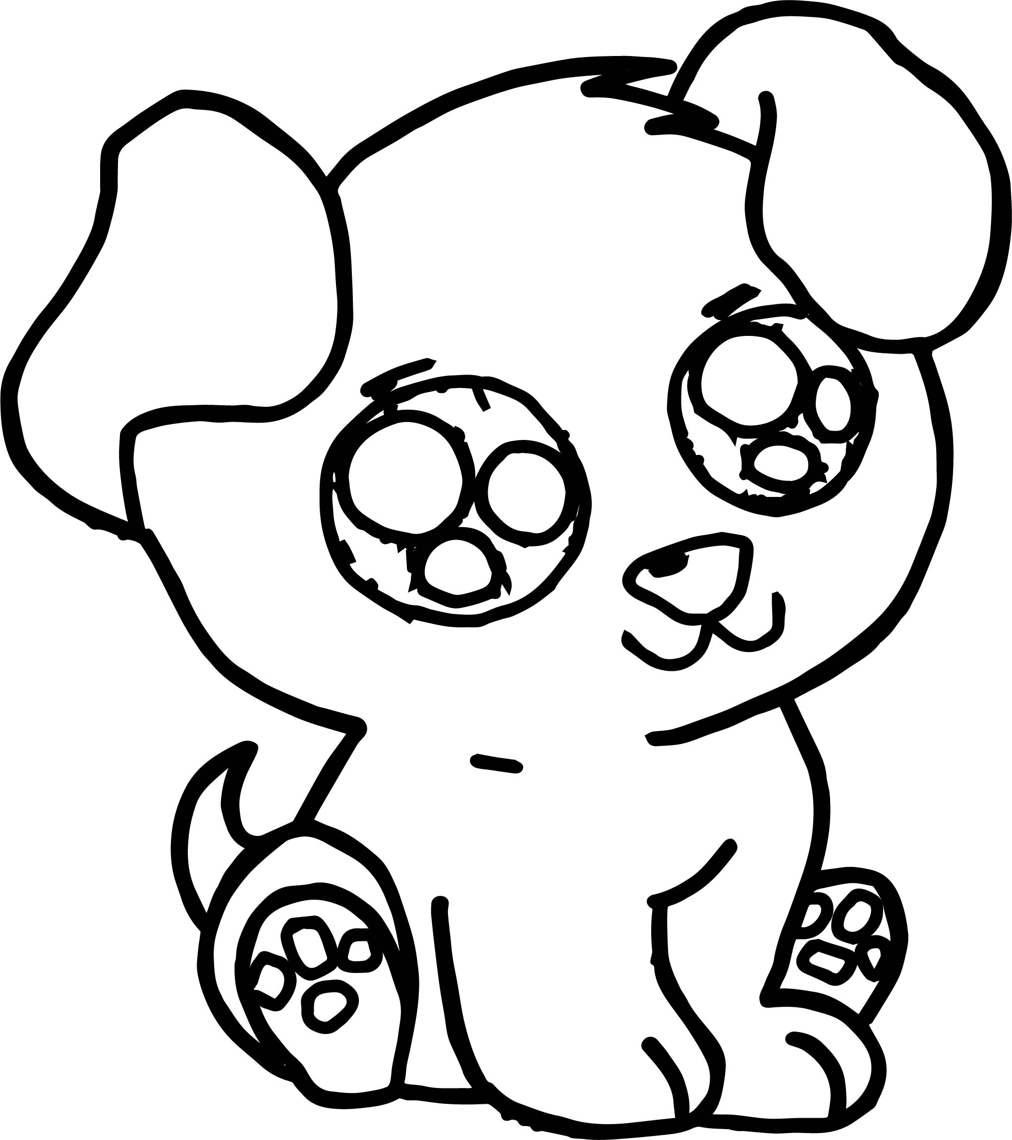 92 coloring pages cute dogs puppies puppy dog for Cute pug coloring pages