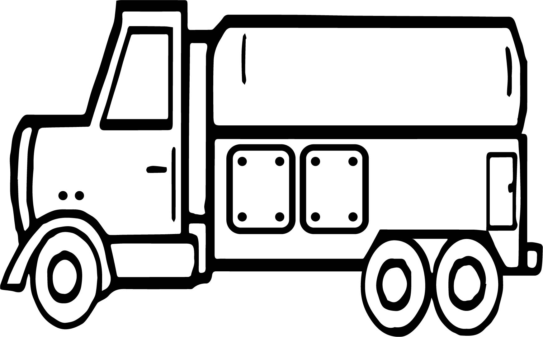 Delivery Truck Coloring Page
