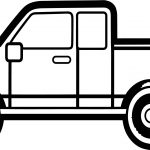 Delivery Truck Pick Up Coloring Page