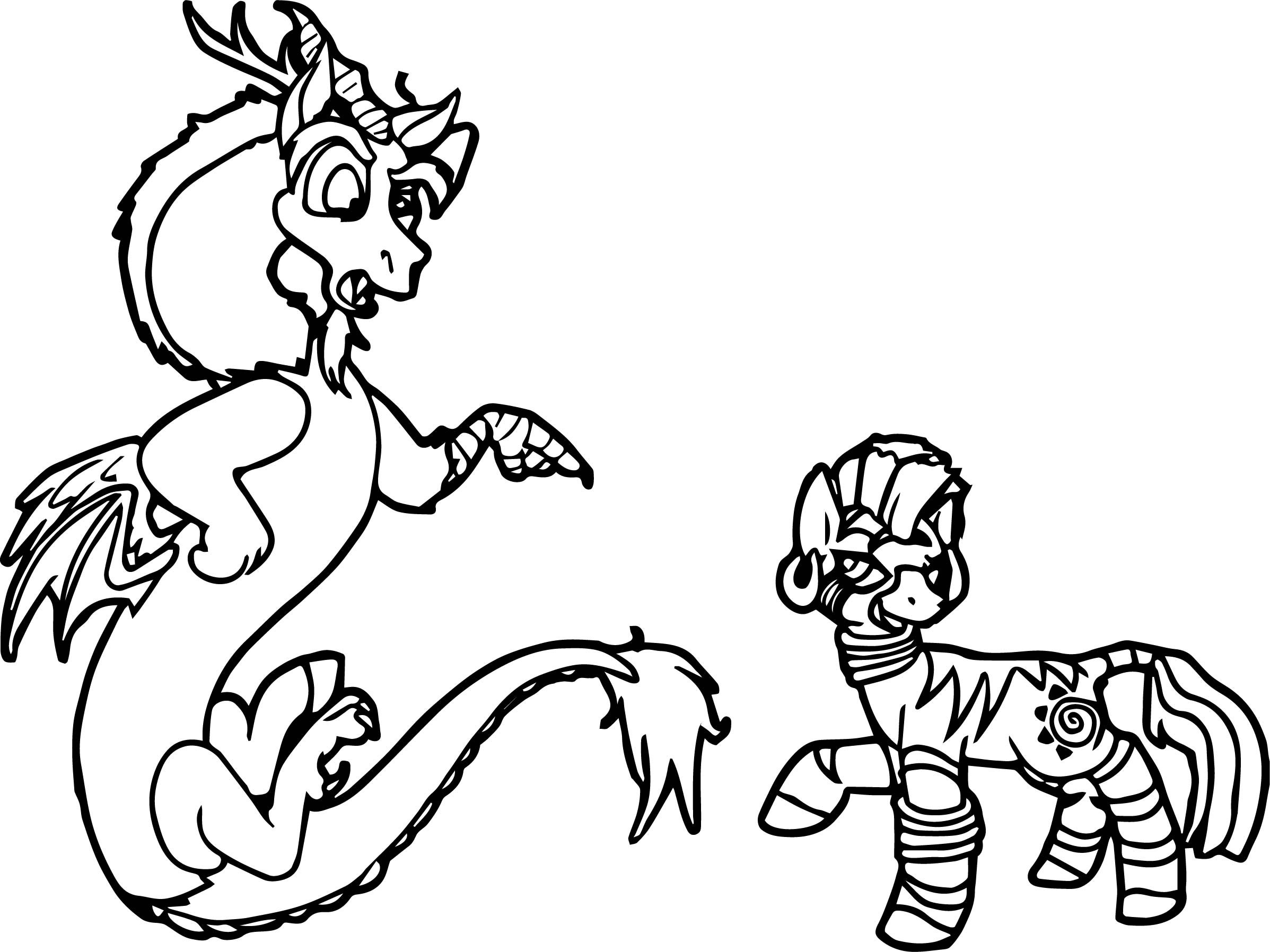 Discord Vs Zecora Who Will Win Coloring Page
