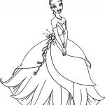 Disney The Princess And The Frog Dress Coloring Page