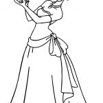 Disney The Princess And The Frog Kiss Coloring Page