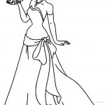 Disney The Princess And The Frog Kissing Coloring Page