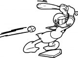 Donald Baseball Playing Baseball Coloring Page