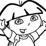 Dora Face Coloring Page