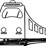 Downtown Train Coloring Page