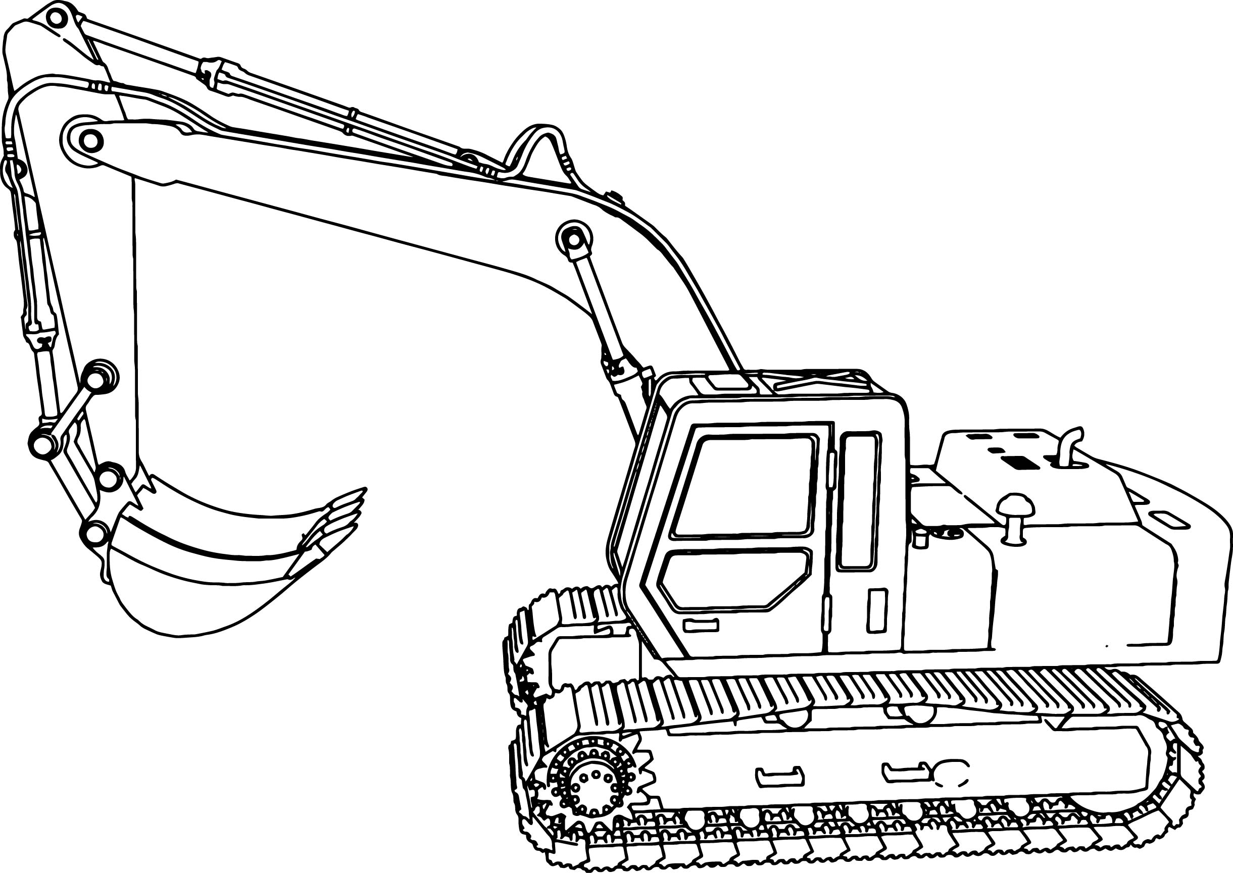 Excavator Side Coloring Page