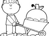 Fall Carrying Boy Coloring Page