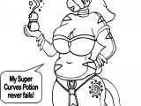 Fat Zecora Special Potion Coloring Page