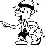 Fatique Man Playing Basketball Coloring Page
