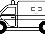 Fine Ambulance Car Coloring Page