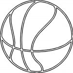 Fine Basketball Ball Outline Coloring Page