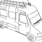 Fire Truck Mini Minibus Coloring Page