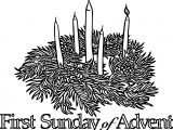 First Sunday Advent Coloring Page