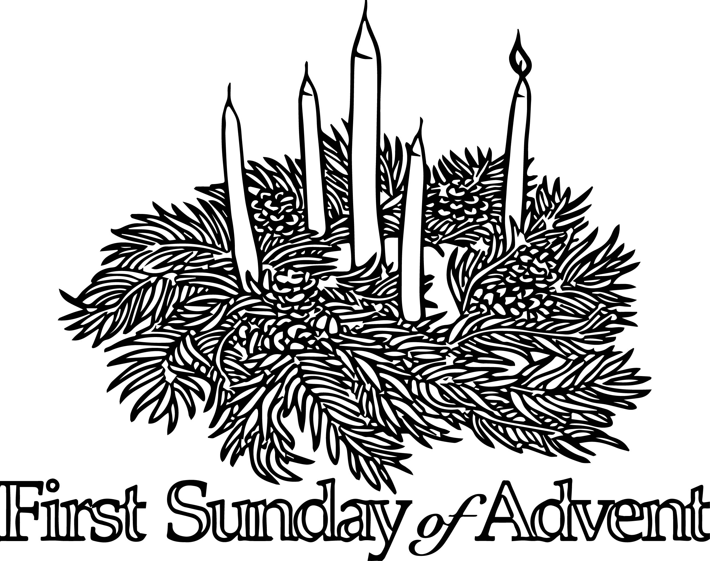 first sunday advent coloring page - Advent Coloring Pages