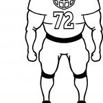 Football Player Browsing Playing Football Coloring Page
