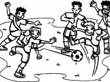 Football Player Playing Street Soccer Coloring Page