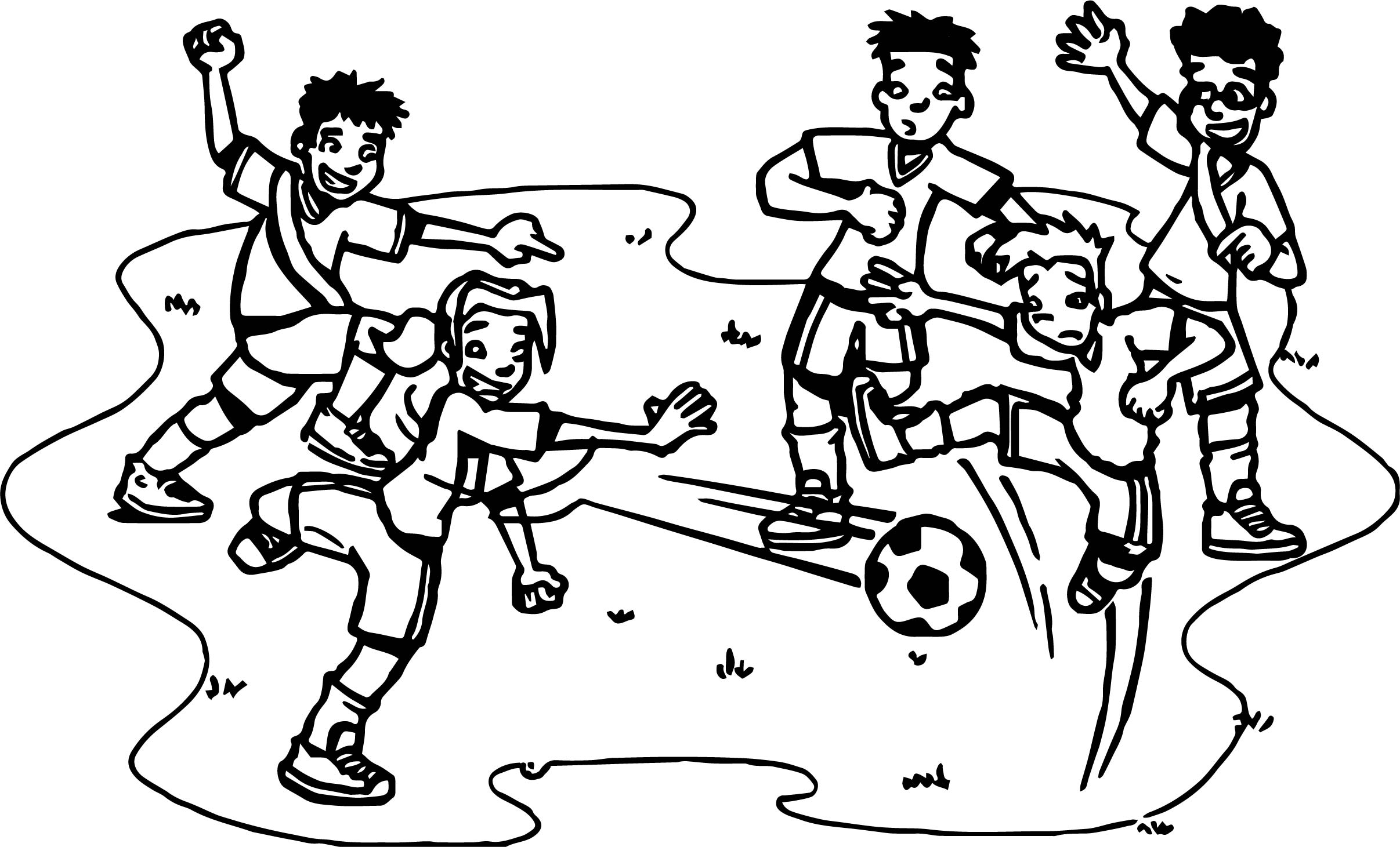 Football Player Playing Street Soccer Coloring Page | Wecoloringpage
