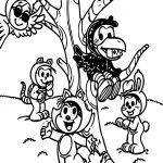 Fox And Crow Turma Da Monica Coloring Page