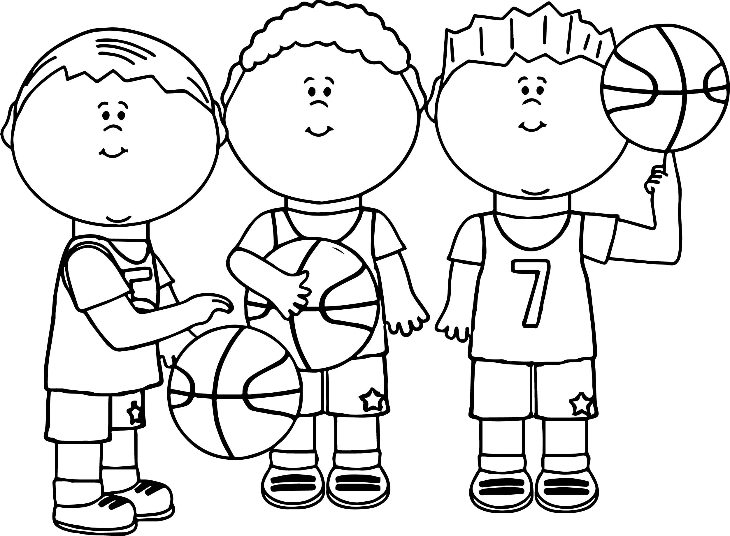 Basketball Coloring Pages For Girls