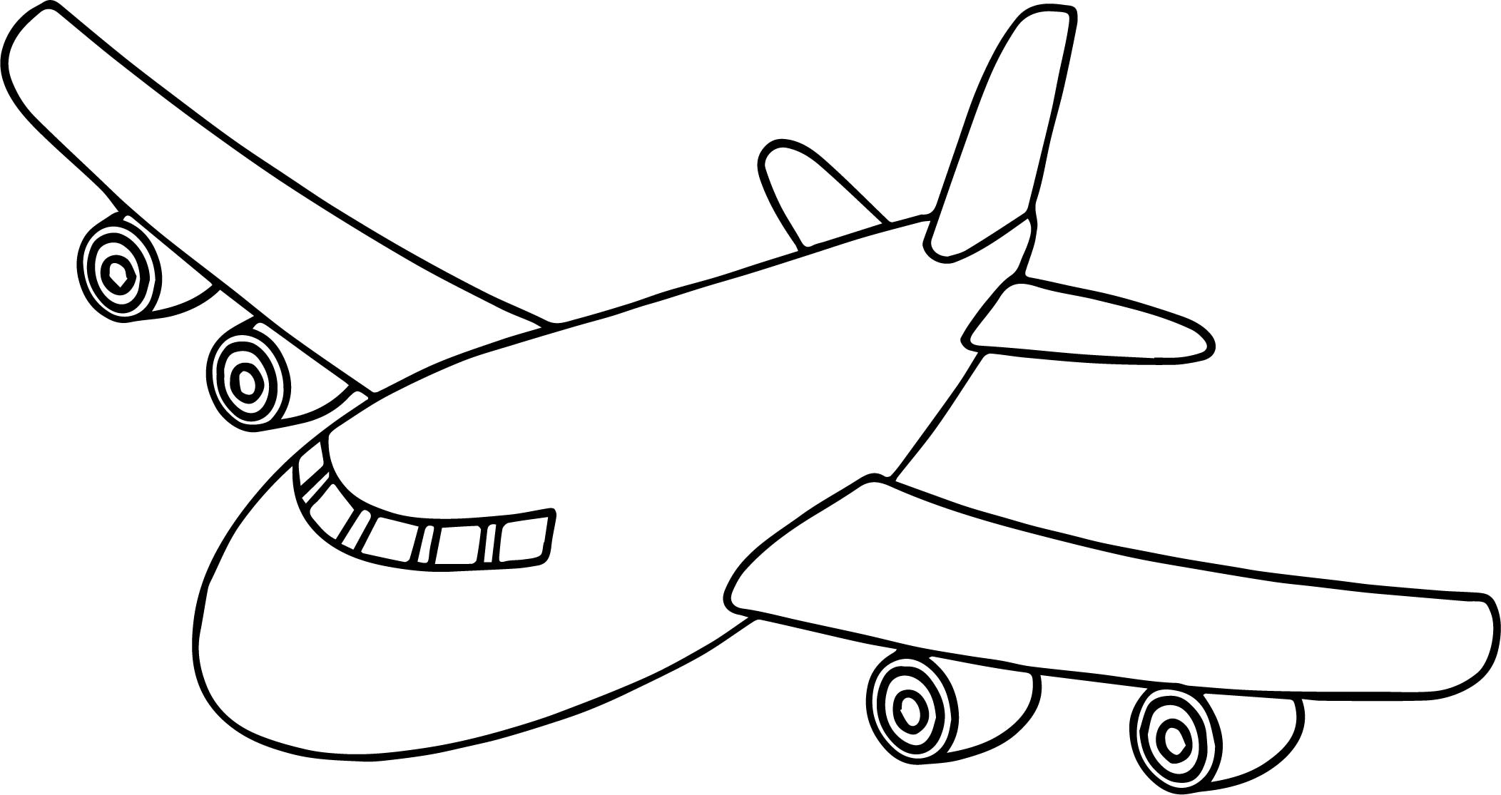 Front airplane coloring page for Airplane coloring page printable