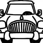 Front Classic Toy Car Coloring Page