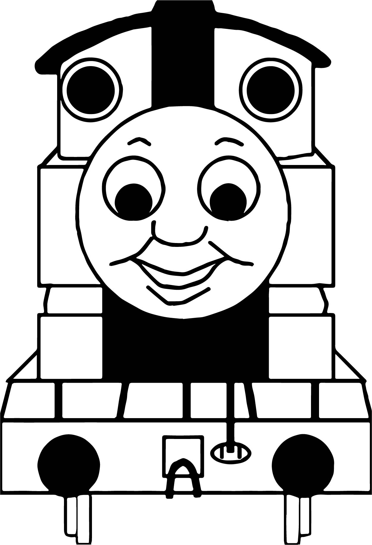 front view train coloring page wecoloringpage