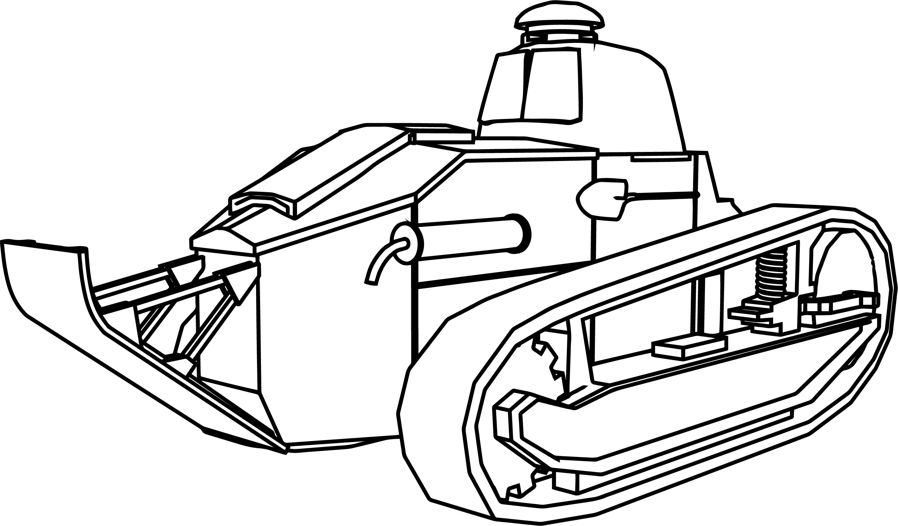 Ft17 ber military tank coloring page for Tank coloring page