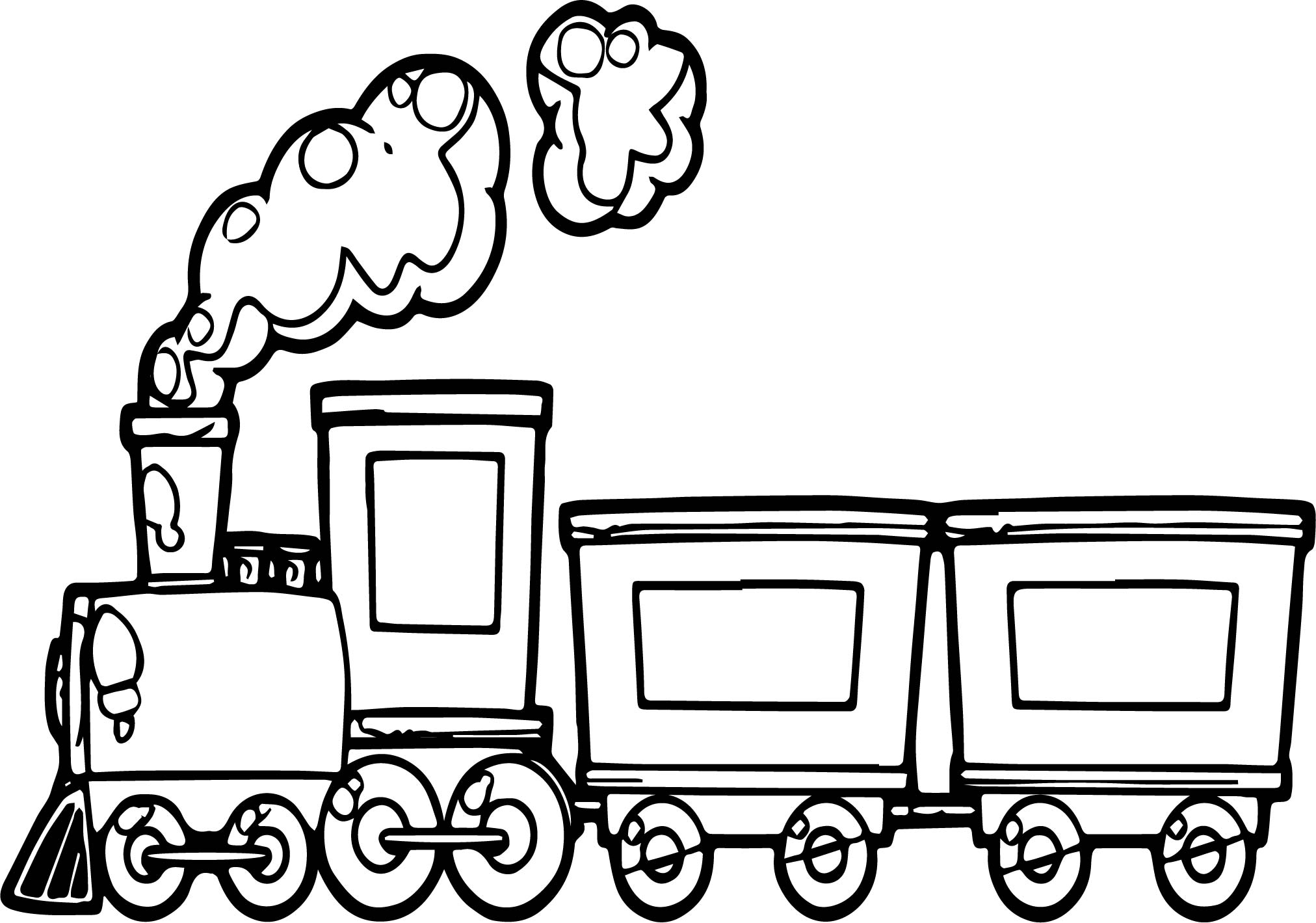 Coloring Pages Trains : Funny cartoon train coloring page wecoloringpage