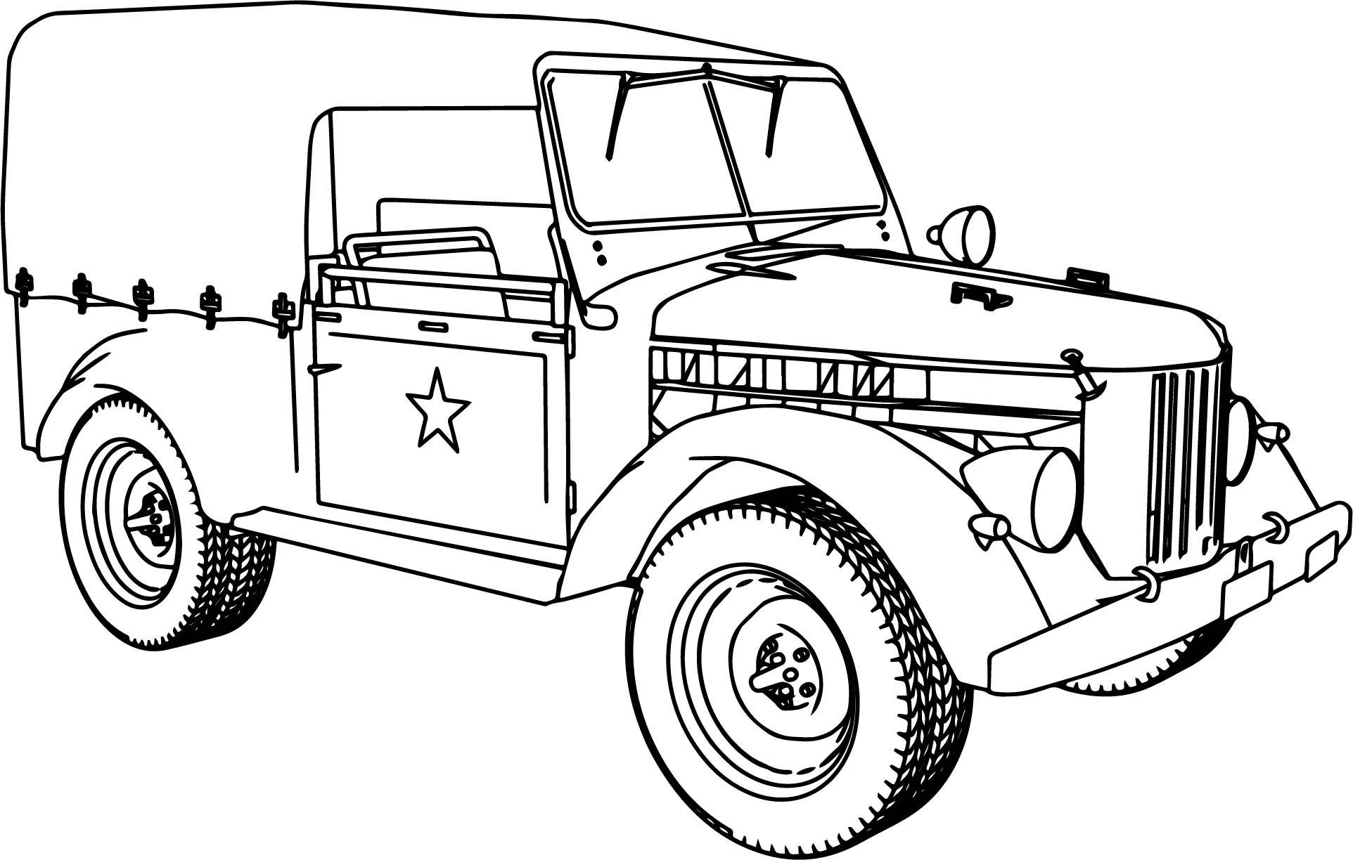 gaz 69 military car coloring page wecoloringpage
