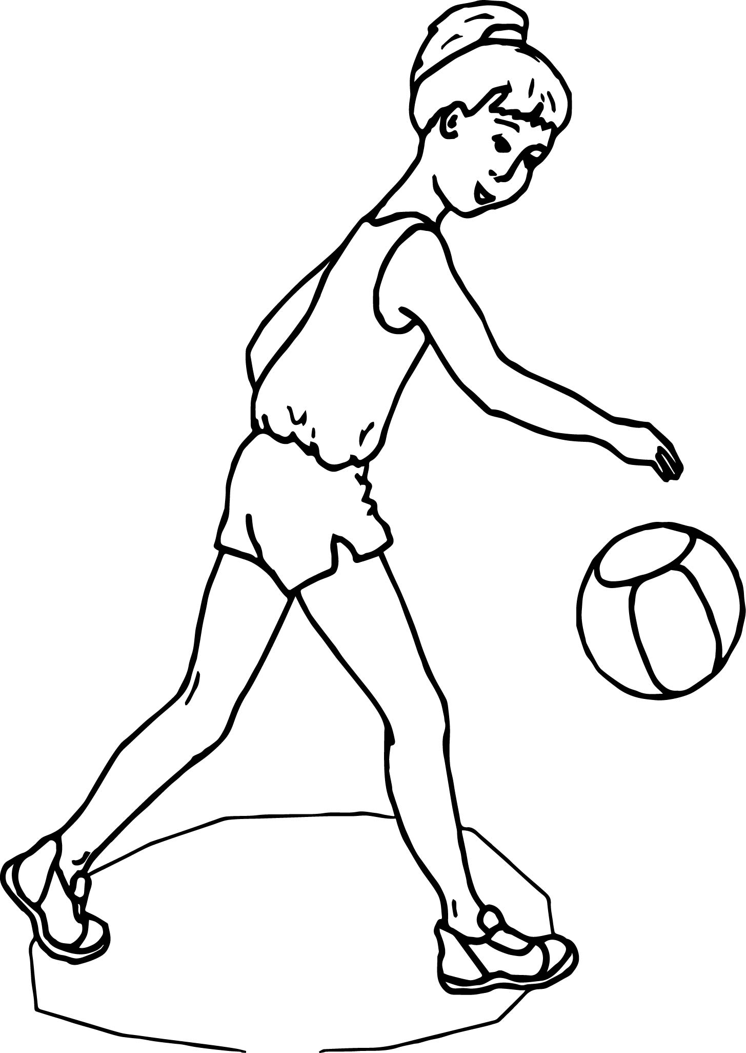 Girl Ball Voleyball Coloring Page